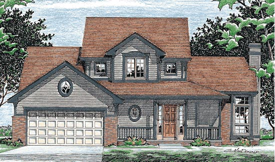 Country House Plan 99404 Elevation