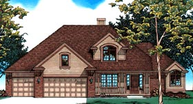 House Plan 99406 | European Style Plan with 2282 Sq Ft, 4 Bedrooms, 3 Bathrooms, 3 Car Garage Elevation