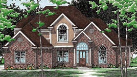 House Plan 99407 | European Style Plan with 2496 Sq Ft, 4 Bedrooms, 3 Bathrooms, 3 Car Garage Elevation