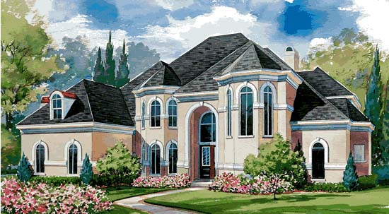 European Victorian House Plan 99408