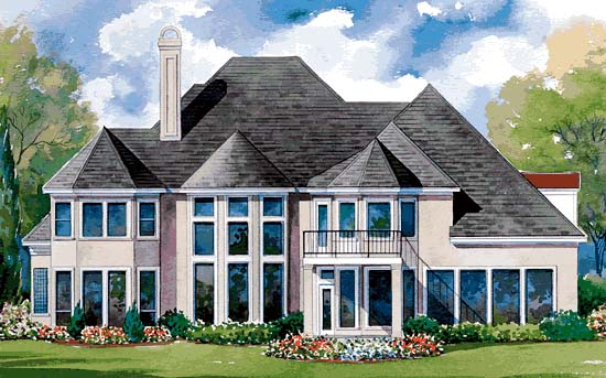 European Victorian House Plan 99408 Rear Elevation
