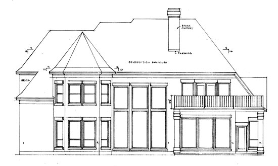 European Victorian House Plan 99411 Rear Elevation