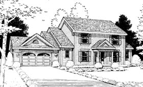 House Plan 99413 | Country Style Plan with 2482 Sq Ft, 4 Bedrooms, 3 Bathrooms, 2 Car Garage Elevation