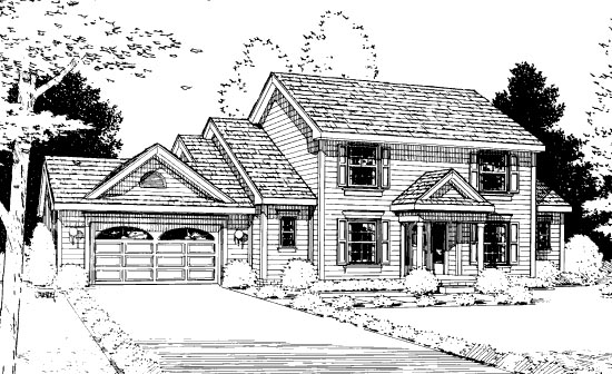 Country House Plan 99413 Elevation