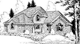 Bungalow House Plan 99414 Elevation