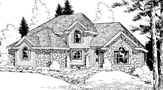 Bungalow House Plan 99414 Elevation