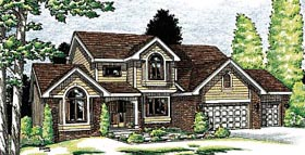 Country European House Plan 99415 Elevation