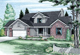 Bungalow Country House Plan 99416 Elevation