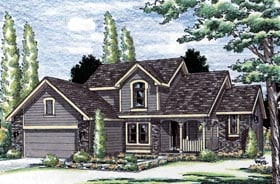 Country House Plan 99417 with 4 Beds, 3 Baths, 2 Car Garage Elevation