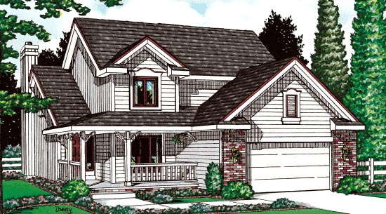 Country House Plan 99419 Elevation