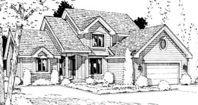 Country House Plan 99421 with 3 Beds, 3 Baths, 2 Car Garage Elevation
