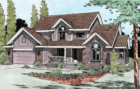 Country European House Plan 99423 Elevation