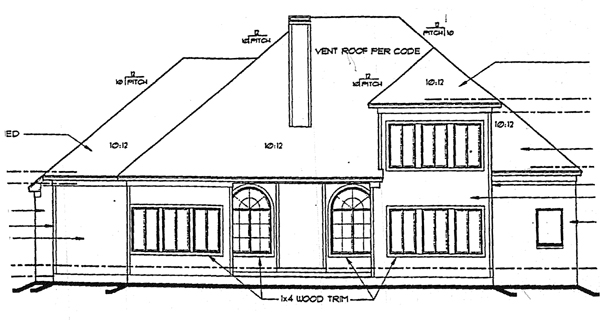 Victorian House Plan 99424 Rear Elevation