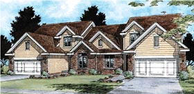 Traditional Multi-Family Plan 99426 Elevation