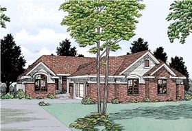 Multi-Family Plan 99427 | Traditional Style Plan with 3968 Sq Ft, 5 Bedrooms, 6 Bathrooms, 4 Car Garage Elevation