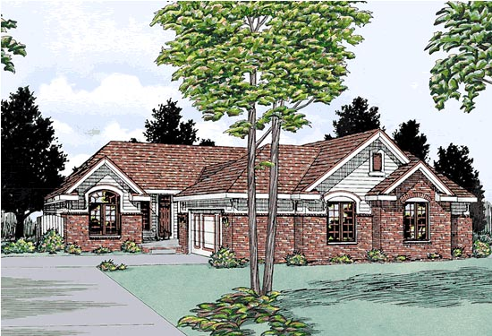 Traditional Multi-Family Plan 99427 Elevation