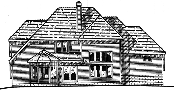 Victorian House Plan 99430 Rear Elevation