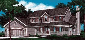 House Plan 99431 | Country Style Plan with 2277 Sq Ft, 4 Bedrooms, 3 Bathrooms, 2 Car Garage Elevation