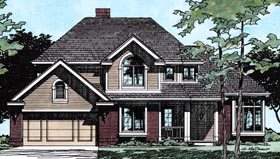 Country European House Plan 99433 Elevation