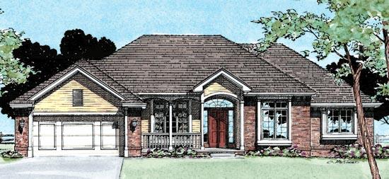 European House Plan 99434 Elevation