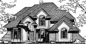House Plan 99435 | European Style Plan with 2727 Sq Ft, 4 Bedrooms, 3 Bathrooms, 3 Car Garage Elevation