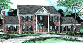 House Plan 99437 | Colonial Style Plan with 3235 Sq Ft, 4 Bedrooms, 4 Bathrooms, 3 Car Garage Elevation