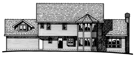 Colonial House Plan 99437 Rear Elevation
