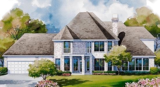Victorian House Plan 99438 Rear Elevation