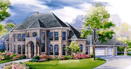 European Victorian House Plan 99439 Elevation