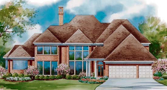 Colonial House Plan 99440 Rear Elevation