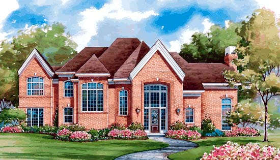 European House Plan 99442 Elevation
