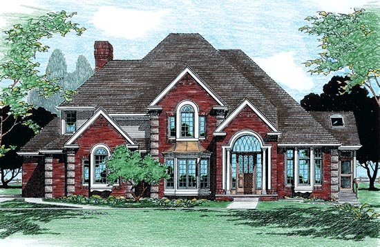 European House Plan 99443 Elevation