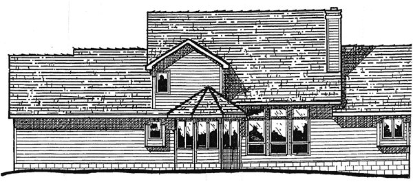 Country House Plan 99450 Rear Elevation