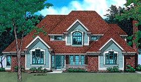 Country European House Plan 99452 Elevation