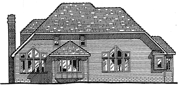 Country European House Plan 99452 Rear Elevation