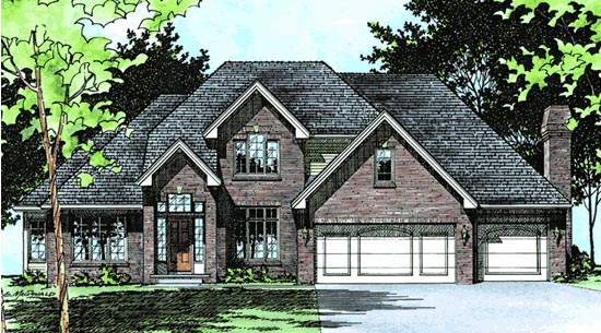 European House Plan 99453 Elevation
