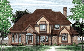 European Tudor House Plan 99456 Elevation