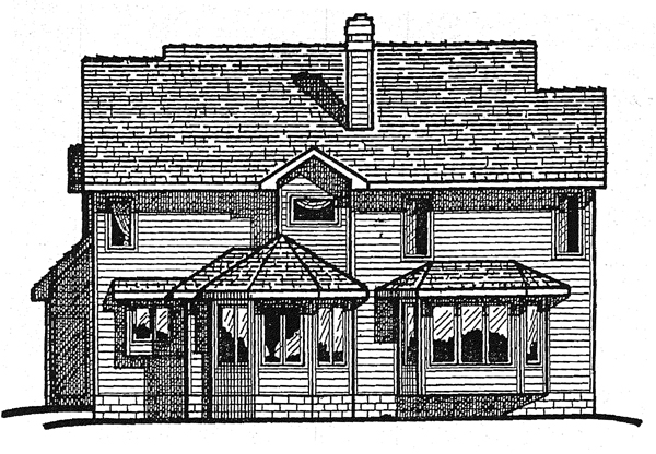 Country Farmhouse House Plan 99457 Rear Elevation