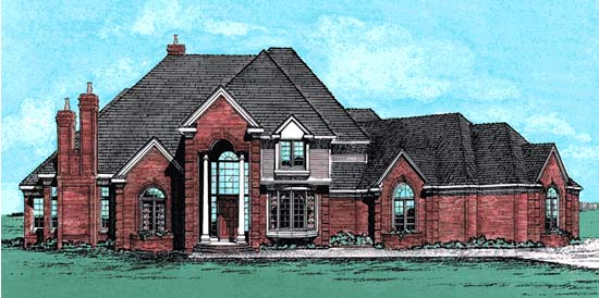 European Tudor Victorian House Plan 99462 Elevation
