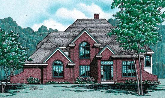 European Tudor House Plan 99463 Elevation