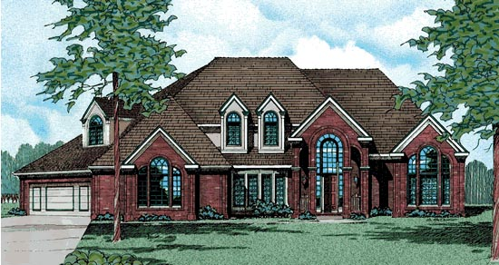 European Victorian House Plan 99464 Elevation