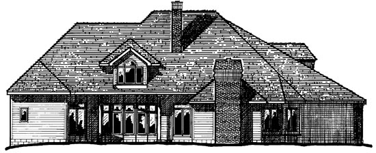 European Victorian House Plan 99464 Rear Elevation