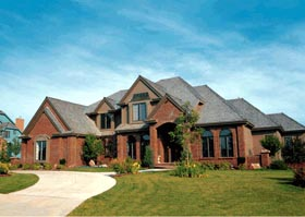 House Plan 99467 | Tudor Style Plan with 3556 Sq Ft, 4 Bedrooms, 5 Bathrooms, 3 Car Garage Elevation