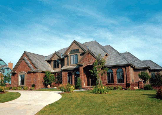 Tudor House Plan 99467 with 4 Beds, 5 Baths, 3 Car Garage Elevation