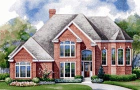 Victorian House Plan 99472 with 5 Beds, 4 Baths, 3 Car Garage Elevation