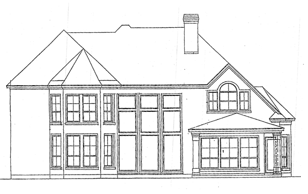 Victorian House Plan 99472 with 5 Beds, 4 Baths, 3 Car Garage Rear Elevation