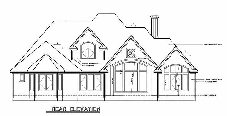 Tudor Victorian House Plan 99473 Rear Elevation