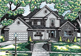 House Plan 99474 | Bungalow Country Style Plan with 1853 Sq Ft, 4 Bedrooms, 3 Bathrooms, 2 Car Garage Elevation