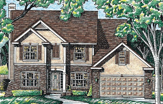 Bungalow, Country House Plan 99481 with 4 Beds, 3 Baths, 2 Car Garage Elevation