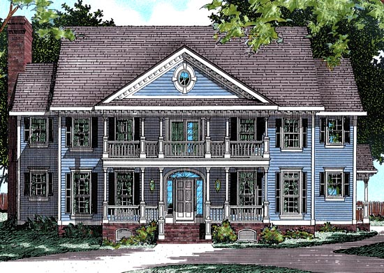 Colonial Southern House Plan 99485 Elevation